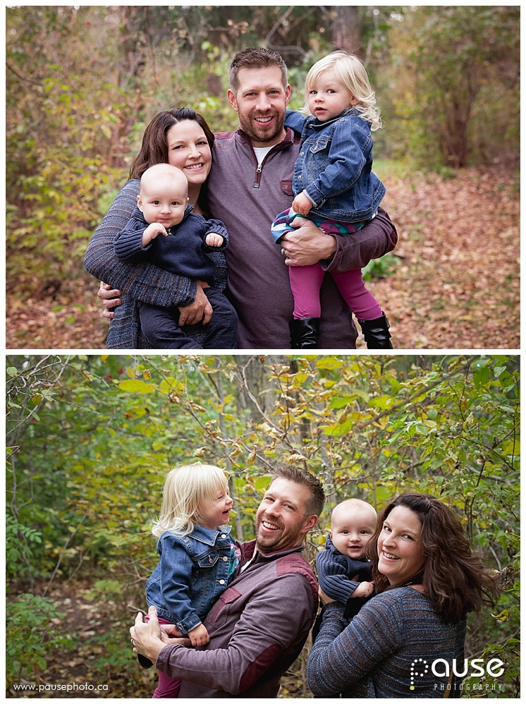 Fall Family Portraits in Edmonton River Valley