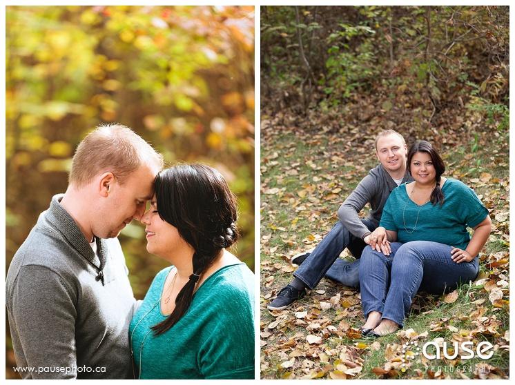 Fall Edmonton River Valley Couples Photography