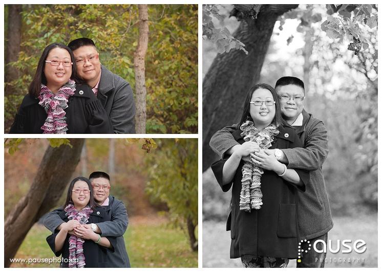 Autumn Couples Portrait in Edmonton River Valley