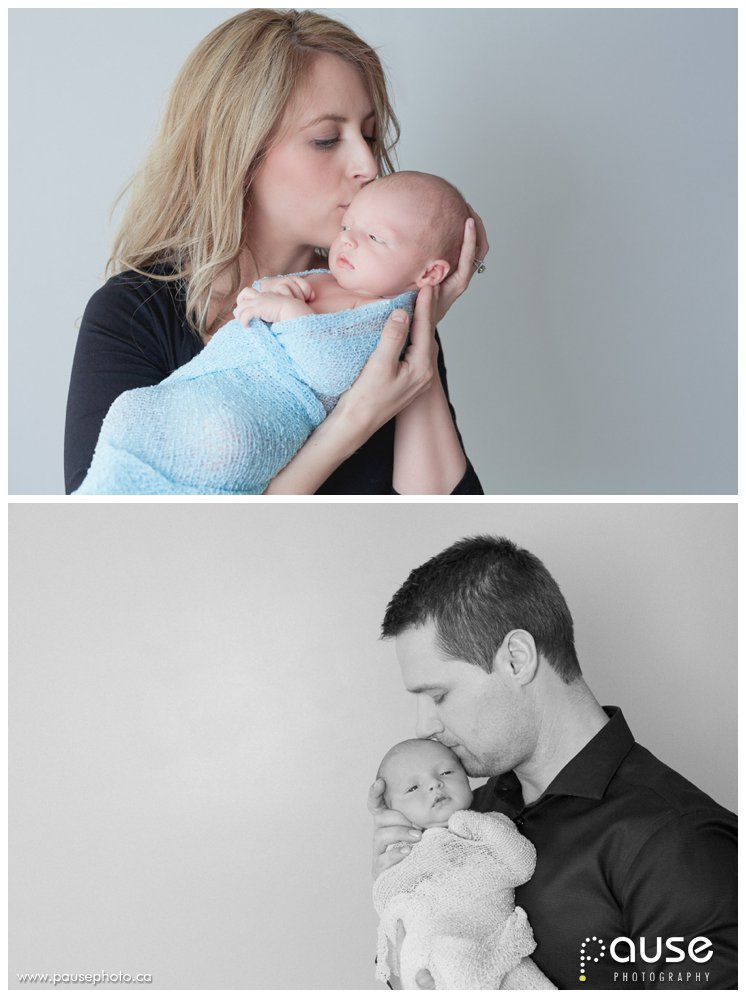 Posed Newborn Family Pictures