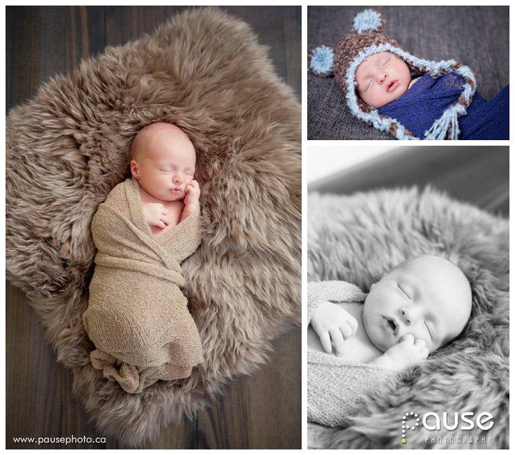 Posed Newborn Pictures in Edmonton