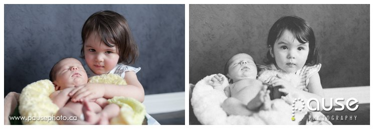 Newborn Baby Pictues with Sibling