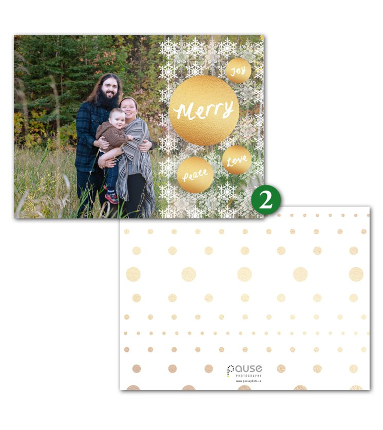 Pause Photography 2015 Holiday Card Design 2