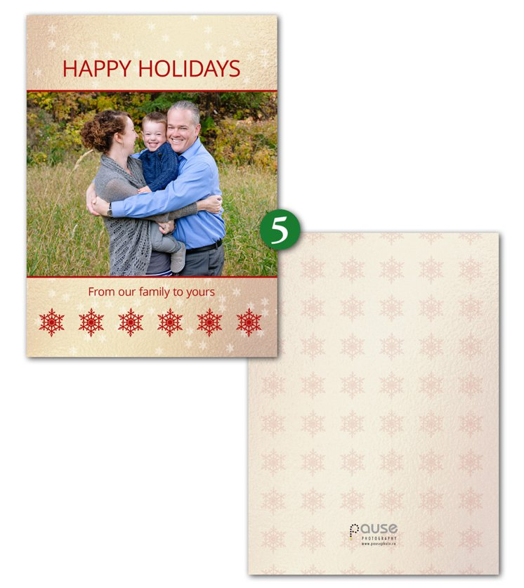 Pause Photography 2015 Holiday Card Design 5