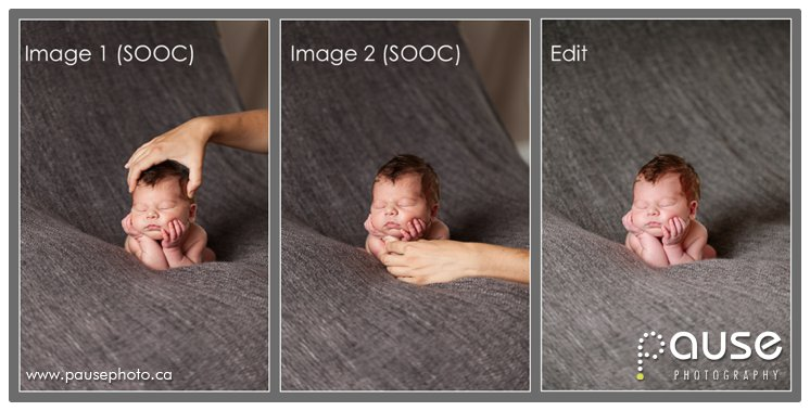 How to safely photograph a baby propped up on hands
