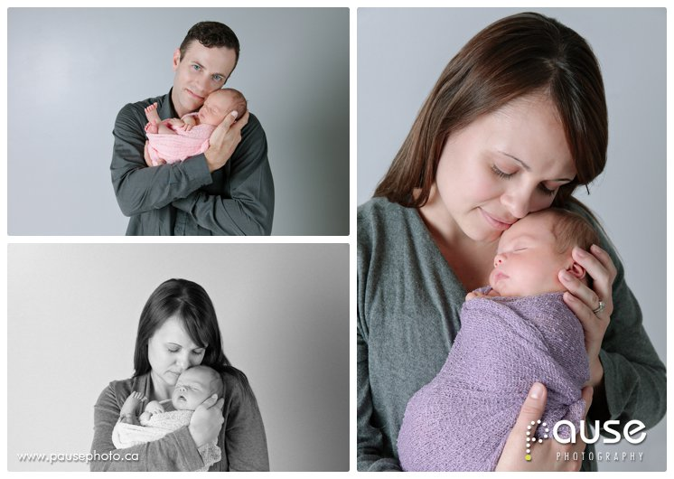 Newborn Pictures with Mom and Dad