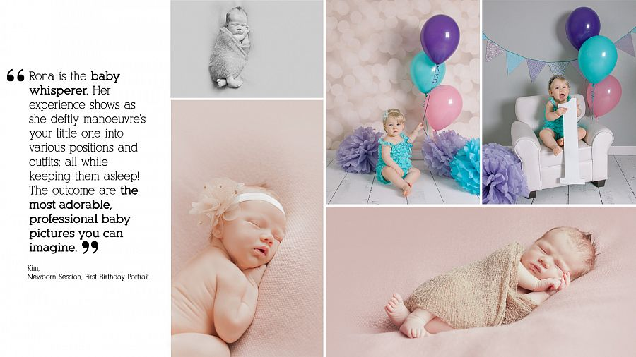 Rona-Marie Harvey from Pause Photography is your baby whisperer for your newborn pictures.