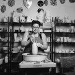 Editorial Portrait of pottery artist at work