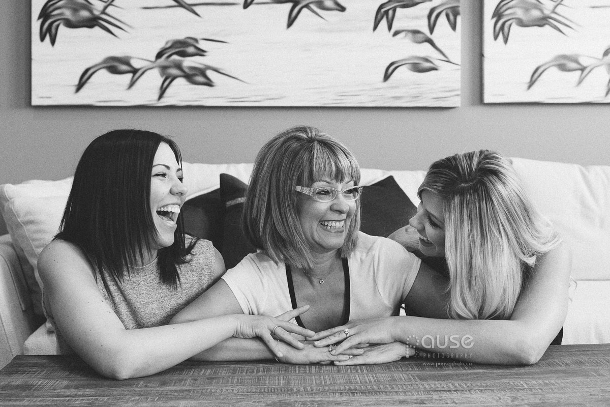 Mother and daughters portrait