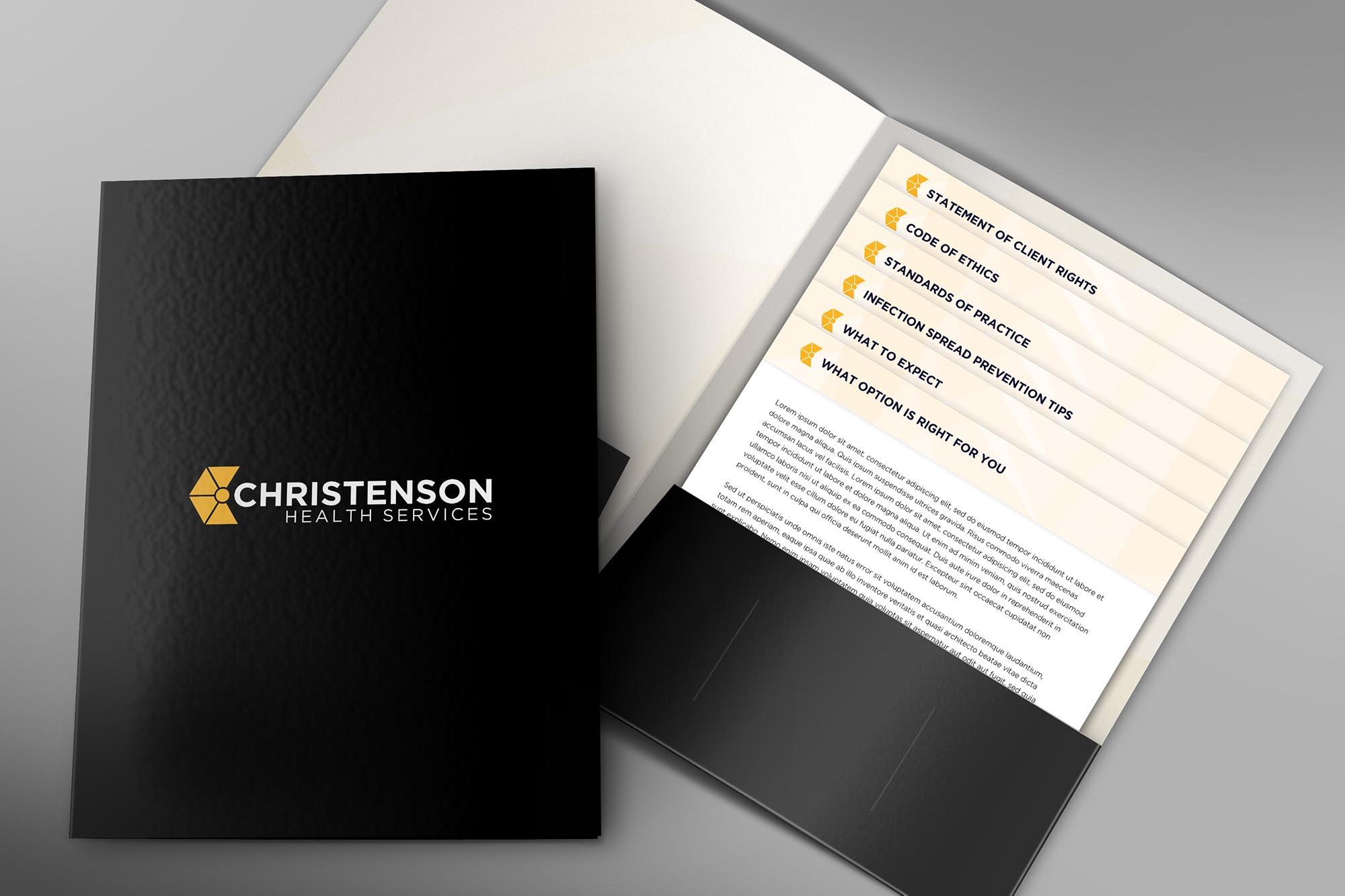 Presentation Folder Design and Insert Print Designer Edmonton